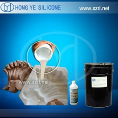 Tin cure silicone rubber for artificial stone molding