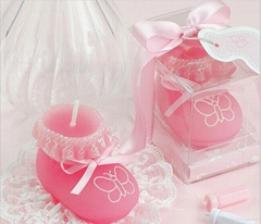 Pink Sock Shoe Candle Wedding Baby Shower Birthday Souvenirs Gifts Favor