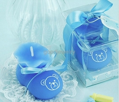 Blue Sock Shoe Candle Wedding Baby Shower Birthday Souvenirs Gifts Favor