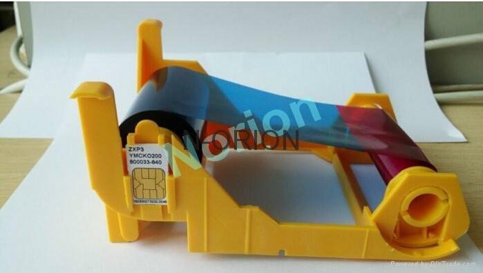 Zebra ZXP3 Color Ribbon 800033-840 YMCKO 200 Prints Made in South Korea For Zebr 1