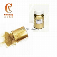 Metal copper and gold pigment for powder coating