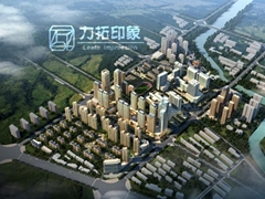 Architecture Rendering Aerial View