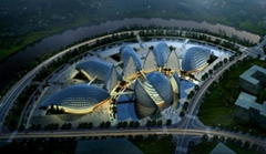 Aerial View 3D Architecture Rendering