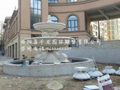 黄锈石喷泉