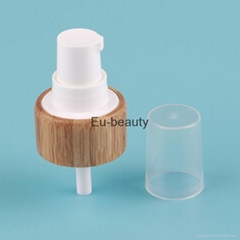24 / 410 Bamboo Sheathed Closure Cream Pump With PP Small Cap