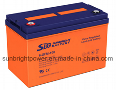12V100ah Rechargeable Gel Solar Power Battery for Solar System