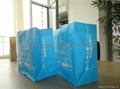 warp and weft kraft paper shopping bag