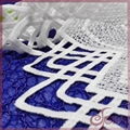 Guipure embroidered lace fabric
