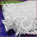 White guipure fabric