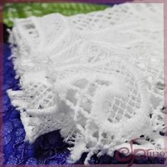 White guipure fabric