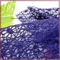 Netting lace embroidered with cotton thread 4