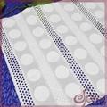 Cotton geometric embroidery fabric
