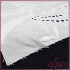 Cotton bird patten embroidery fabric