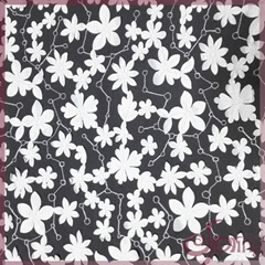 Applique white flower laser lace embroidery fabric for dress