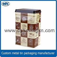 Roasted coffee bean tins metal coffee tin box tinplate tin cans