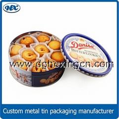 Cookies packaging tin box biscuits tin box Round cookies tin box