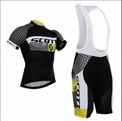 2015 Scott Black Cycling Clothing Bike Jersey Bike Clothing Cycling Jersey And B