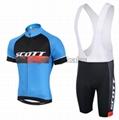2015 Scott Blue Black Cycling Clothing Bike Jersey Bike Clothing Cycling Jersey  1