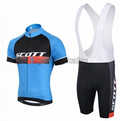 2015 Scott Blue Black Cycling Clothing Bike Jersey Bike Clothing Cycling Jersey