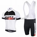2015 Scott White Black Cycling Clothing