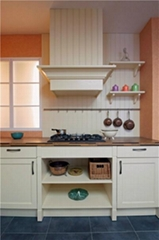 Professional Custom Red Wood Italian Kitchen Furniture