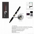 5-in-1 laser pointer LED torch light USB pen stylus pen with pocket clip  5