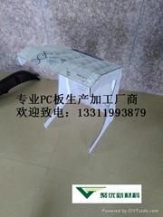 上海聚优PC板裁切雕刻热弯成型加工生产厂家