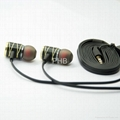 Good quanlity noise cancelling Metal earphone with mic