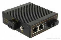 百兆一光两电室外工业级光纤收发器