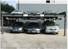 High quality KQLS simple parking system double parking car lift for 6 cars