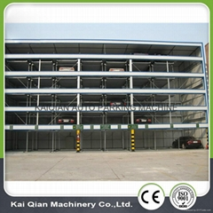 KQLS multi layer puzzle automated elevated car parking equipment for public
