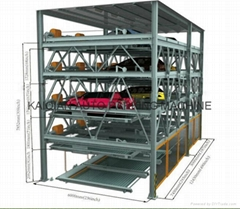 Lifting and lowering transverse moving car parking system