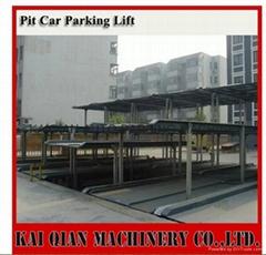 four post underground hydraulic parking car lift, car parking system
