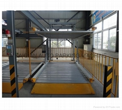 2-level back cantilever parking system,car parking lift,lifting car parking