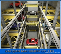Auto Intelligent mechanical Plane moving 2-6 levels car parking system