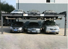 KQLS simple parking system double parking car lift for 6 cars