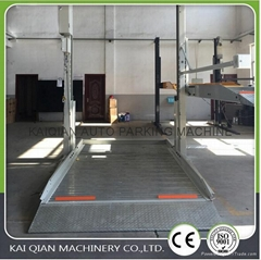 Two post mini lifting hydraulic home parking lift, car parking system