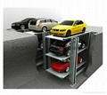 vertical three tier parking system/pit