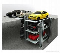 vertical three tier parking system/pit parking system