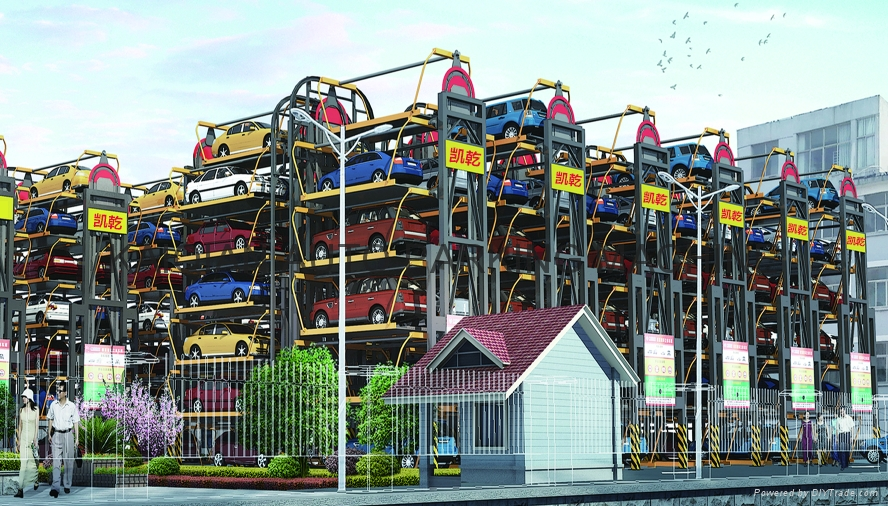 Multi-Layer Lift-Sliding Mechanical Type Rotary Car Parking System Lift 6