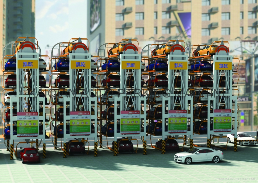 Multi-Layer Lift-Sliding Mechanical Type Rotary Car Parking System Lift 7