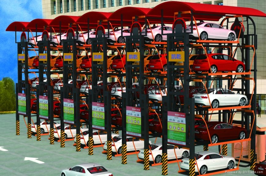 Multi-Layer Lift-Sliding Mechanical Type Rotary Car Parking System Lift 8