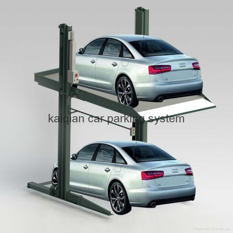 2 post 2 level parking lift kqhl 2 kai qian china for Equipement complet garage auto