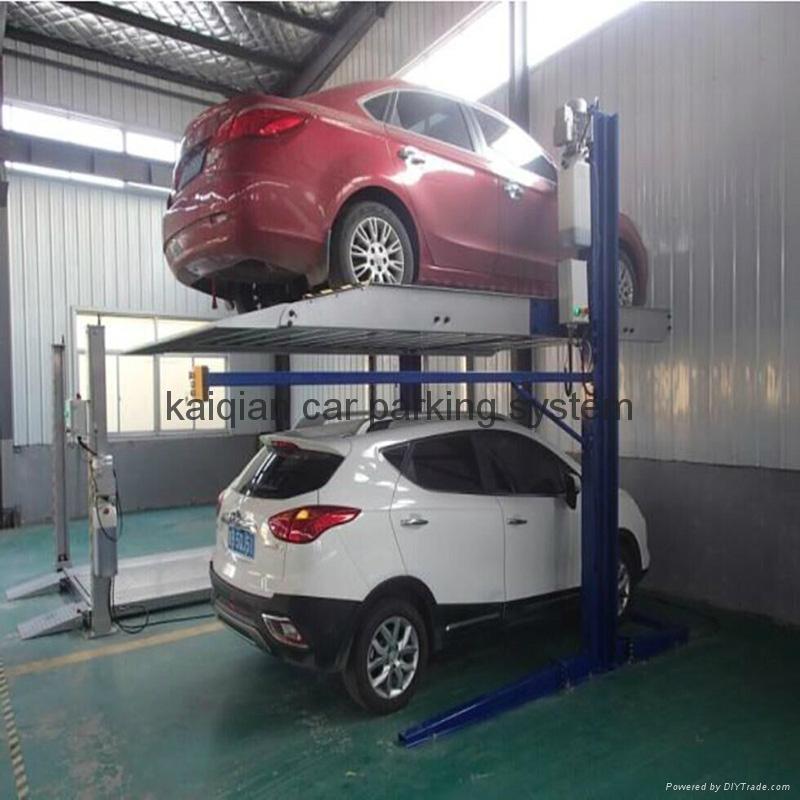 2 Post 2 level Parking Lift  5