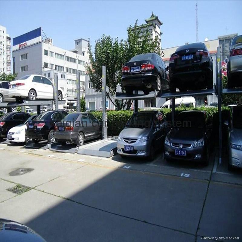 2 Post 2 level Parking Lift  6