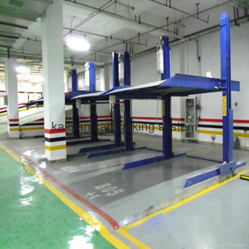 two level 2 post car parking system auto parking garage