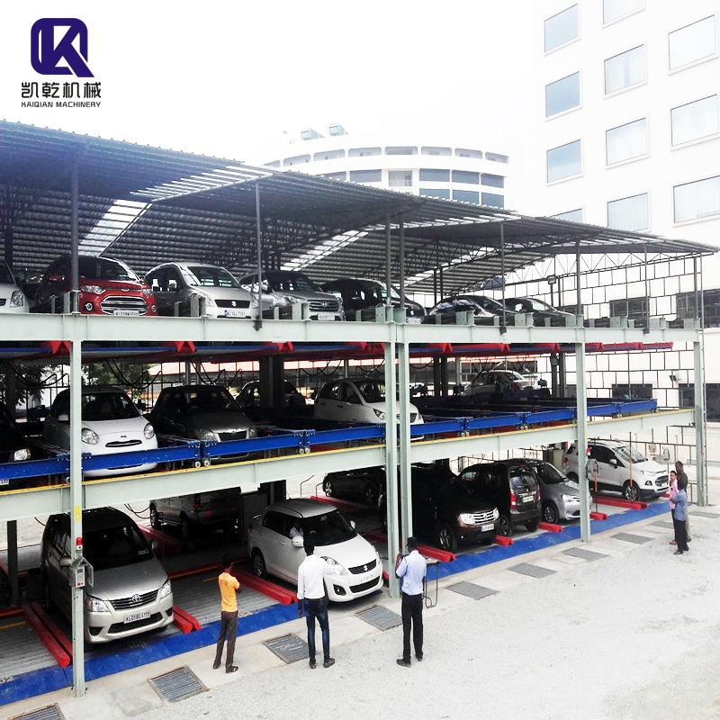 Multi-level automated lift sliding car elevator parking systems