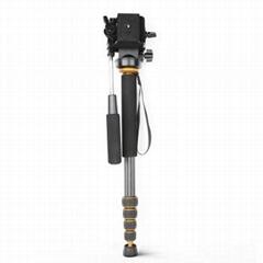 Q188C Carbon fiber digital camera tripod monopod portable camera monopod