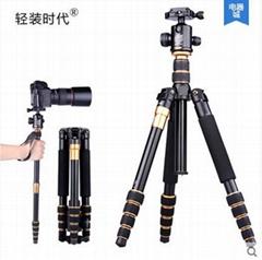 Q668 Aluminum digital camera tripod stand portable slr camera stand monopod