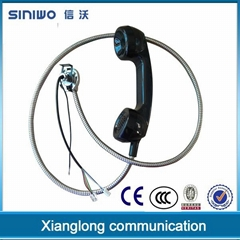 Public payphone integrated industrial usb rj11 interface retro telephone handset